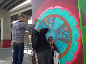 Post image for New Chicano Park Muralists Are Honored to Paint in the Park