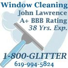 Call 1-800-GLITTER for clean windows!