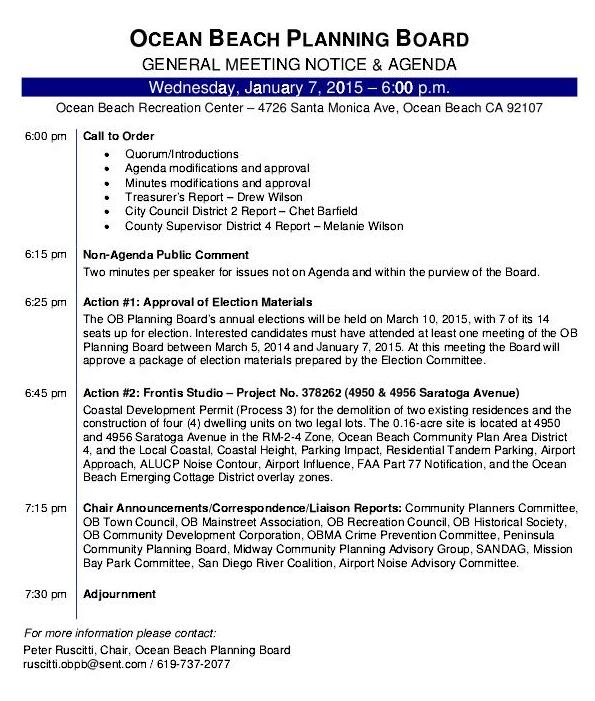 OB Plan Bd agenda 1-7-15