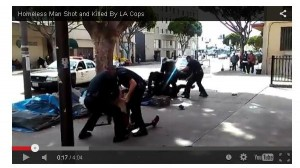 Post image for The Viral Video of LA Cops Shooting Homeless Man