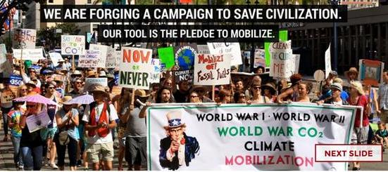 Post image for Climate Mobilization Coalition Gears Up for Next Action – Meetings Every Saturday in OB