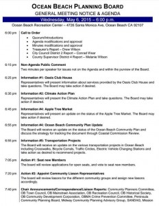 Post image for Full Plate on the Agenda for the OB Planning Board Meeting – Wed., May 6