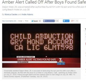 Post image for Abuse of Amber Alert in San Diego?