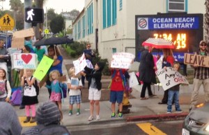 Post image for OB Elementary Parents and Students Protest Loss of Two Teachers