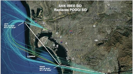 Point Loma Residents Mobilize Against Proposed New Flight Paths By - Faa map of us after 9 11