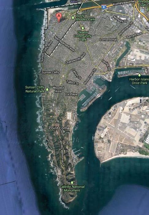 Point Loma google satellite