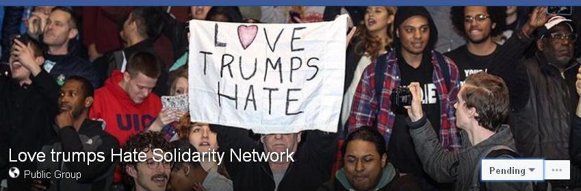 Trump Love trumps hate solid netwk fb -ed