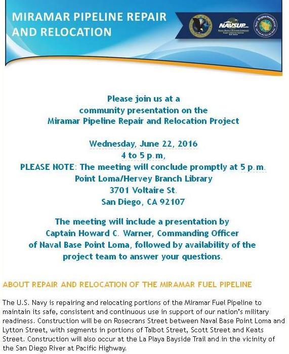 Pt Loma pipeline meet 6-22-16