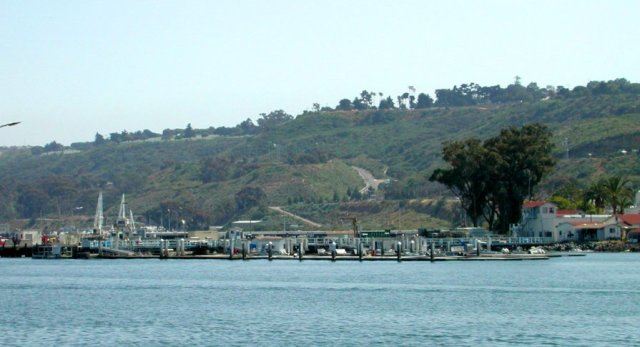 The US Navy's dolphin pens Shelter Island, San Diego