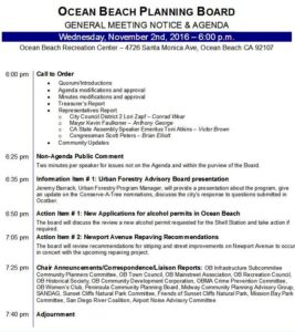 Post image for Agenda – OB Planning Board – Wed., Dec. 7th