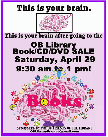 Post image for OB Library Book Sale : Saturday April 29
